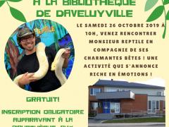 Rencontre avec Monsieur Reptile à la Bibliothèque