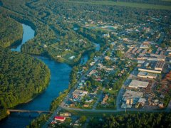 Vue aérienne de Daveluyville