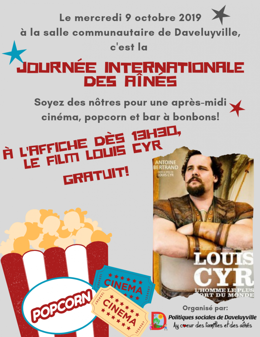 Journée internationale des aînés - Visionnement du film Louis-Cyr