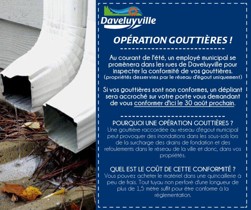 Opération gouttières