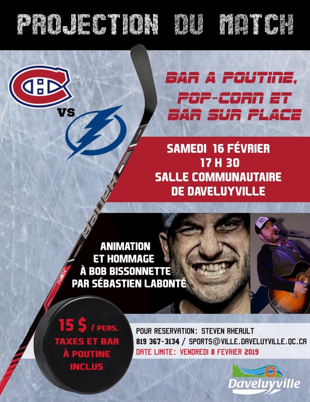 Projection du match Canadiens vs Lightning