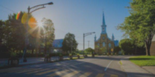 Courbe de l'église